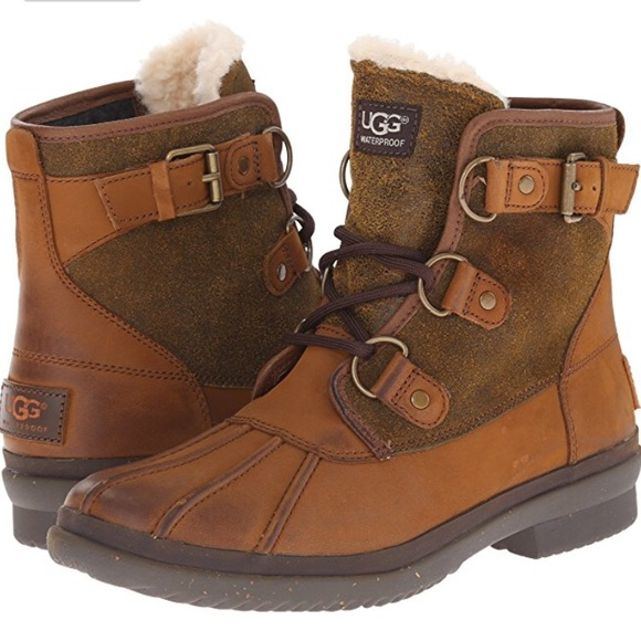 db216746061 UGG Cecile Waterproof Boots in Chestnut